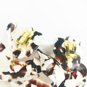 lele sadoughi Jewelry - LELE SADOUGHI | Paper Lily Earrings in Tortoise
